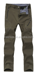 outdoor waterproof wind proof breathable nylon pants trousers with fleece lining 88033