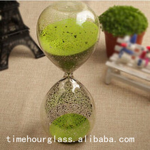 silvering hour glass clock