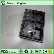 Top quality plastic food box design with lid, PP microwavable food container, lunch box
