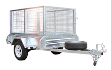 Cage trailer Fully welded Single axle trailer