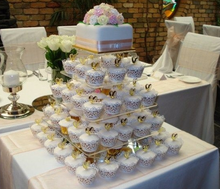 Acrylic Cupcake Stand Customized 5 Tier Crystal Wedding Cake Display Stand