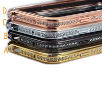 Luxury shining Diamond Metal Bumper Frame Case Cover for iPhone 5C