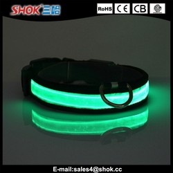 2015 Personalized Nylon flashing LED pet collar for pet shop