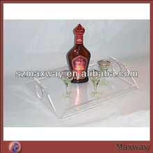Modern design wholesale clear lucite tray