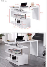 fashion narrow wooden laptop desk