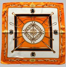 2015 Small Square Magic lady 100% silk scarf