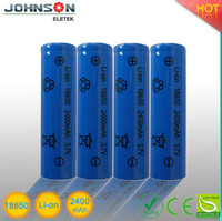 2015 High capacity icr18650 2s1p 7.4v 2200mah li ion battery pack inr18650e lithium battery