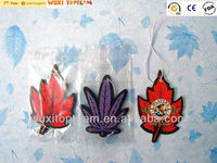 leaf style paper car air freshener with various patterns