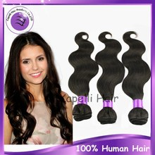 Alibaba Wholesale Top Quality Virgin Peruvian body wave hair weft 18inch 3 pieces/set unprocessed cheap human hair no tangle