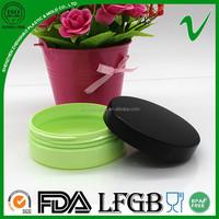 Premium Quality round shallow plastic container for skin whitening cream