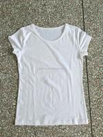 2015 Promotion item China wholesale round neck short sleeve cotton custom blank t shirt