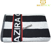 Double sided Cotton jacquard Personalized Beach towel with logo