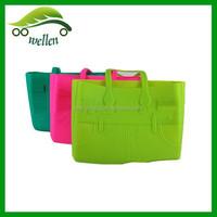 Variety silicone big shoulder bag beach bag ladies handbag jelly