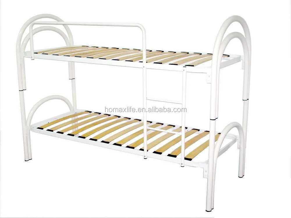 Diseño italiano cama litera de metal marco de dos pisos cama de ...