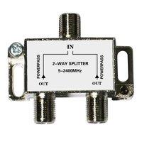 2 way tv splitter catv splitter satellite splitter 5~2400mhz