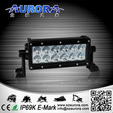 positive comments high lumen AURORA 6 inch 60W dual row led motorcycle lamp moto light