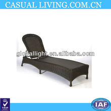 Classic Wicker Outdoor Chaise Lounge Chair with Cushions - Dupione Bamboo, Black Brown - Frontgate, Patio Furniture
