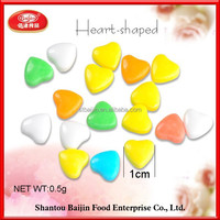 Hot selling colorful heart hard candy