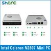 Factory hot selling dual core mini pc Intel Celeron N2807 in desktop