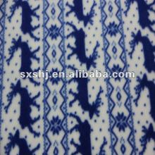 Polyester Prints Deer Two Side Brushed Knitting Fleece Fabric