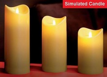 Remote control LED flameless candle velas with timer, USA patent approved