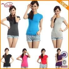 China Manufacturer Cheap Wholesale Plain Blank Womens tshirt