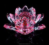 Wholesale crystal lotus glass lotus flower in 2015