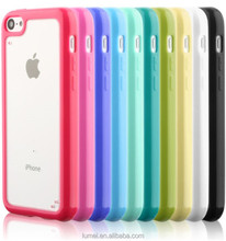 New Transparent Clear Hard Back Silicon Soft TPU Bumper Case Cover For iPhone 5C