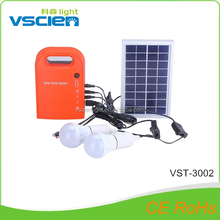 Vsicen 5w solar lighting kit with mobile charger