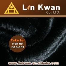 soft 58 inch plush fake fur knit fabric fur for brim-coat