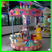 2015 amusement equipment 6 players revolving kiddie carousel for sale