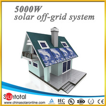 Off-Grid 5KW solar panels,controller,cable,inverter,batteries solar energy system