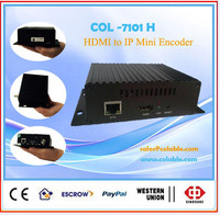 Smart and cheap rtmp encoder, hd mi single channel to ip encoder mini COL7101H