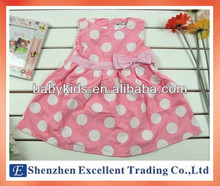 Pink Round Dots and Lovely Baby Girl Dress Pattern