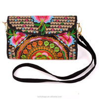 2015 new arrival indian style embroidery bag canvas messenger bag for women