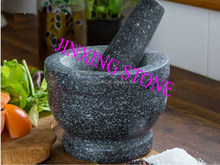 Black Polished Granite Mortar and Pestle/ Cooking Set/Stone Spice Herb Crusher Grinder Set