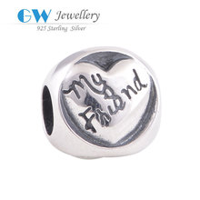 Sterling Silver Findings Wholesale Personalized Mother&Friend Bracelet Charms