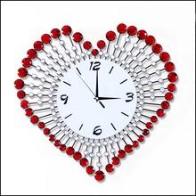 2015 Yiwu Home Goods Gifts Living Room Creative Acrylic Beads Heart Shape Sweet Wedding Gifts Wall Clock