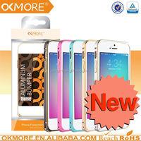 wholesaler metal bumper+silicon case for iphone 5