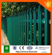 pvc powder coated picket angle palisade fencing