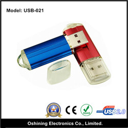 simple style many colors stick OEM plastic cheap promotional 2.0 usb driver(USB-021)