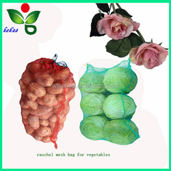 green,red,yellow knitted plastic raschel mesh bag in roll for agriculture use