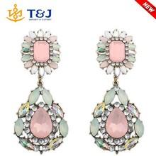 Latest Design Fashion Jewelry Crystal Tear Drop Earrings