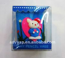 Most special pen/pencil holder with polymer clay material