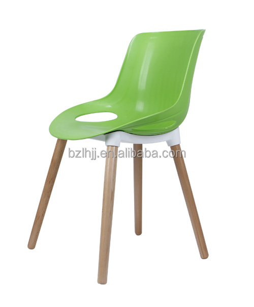 New Design Wholesale Dining Room Modern Plastic Chair With Wood Legs Buy Mo