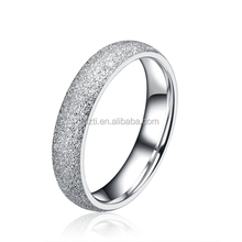 2015 Wholesale factory direct sale fashion 316L stainless steel jewelry rings wedding Ring Set For Couple with sandblast finish