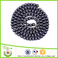 Natural coconut color 114pcs apple shape high end tagua nut customized beaded watch band accessory