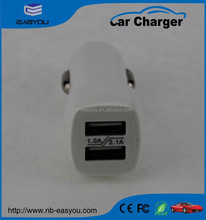 universal fast charge 2 port usb /duo usb car charger 5V 2.1A for smartphones