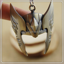 Christmas gift gold/sliver new movie The thor mask keychain fashion for men women friends