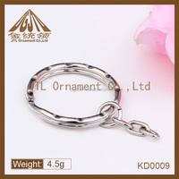 Fashion metal key ring chain attachment